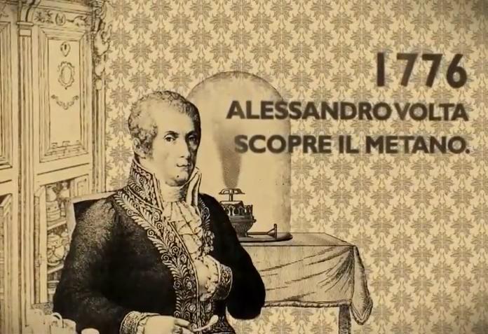 Alessandro Volta scopre il metano